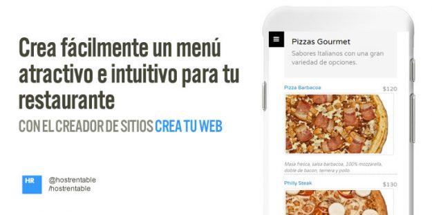 Crea fácilmente un menú atractivo e intuitivo para tu restaurante
